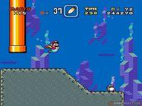 une photo d'écran de Super Mario World sur Nintendo Super Nes